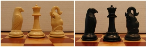 Elephant and Hawk Seirawan Chess Pieces